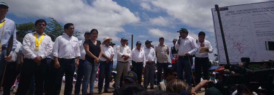 Inicio de obras del Proyecto de Irrigación Amojao en Amazonas